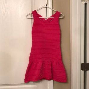Pink fit and flare bandage dress